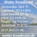 Wetterdaten der Wetterstation in Kressbronn
